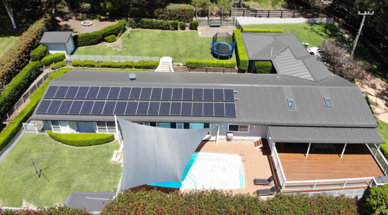 13KW Solar installation in the Matcham area