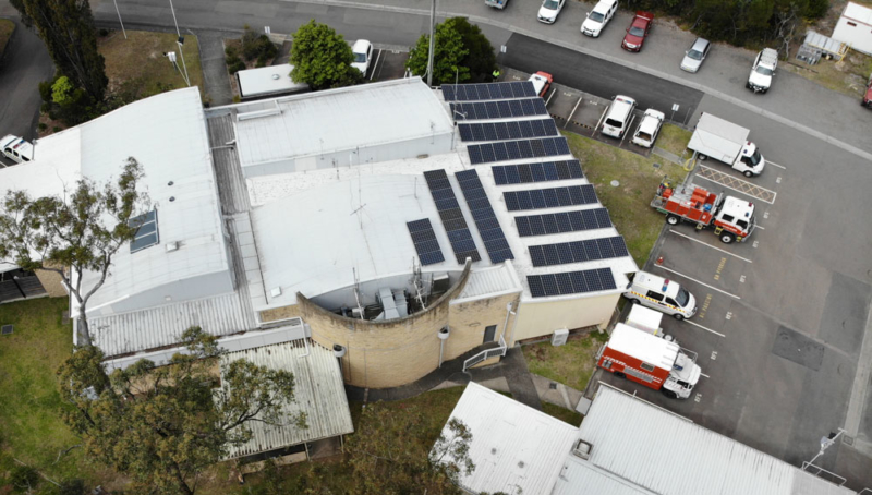 27KW Solar installation NSW Rural Fire Brigade Kariong