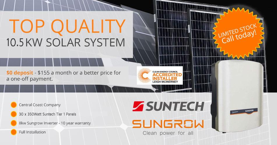 Suntech special off central coast energy